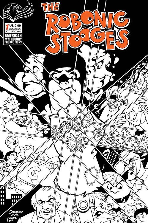 The Robonic Stooges #1 Ltd Ed 1/350 Cvr