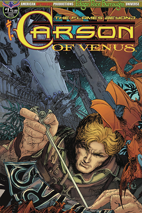 Carson of Venus #1 Flames Beyond Main Kaluta Cvr