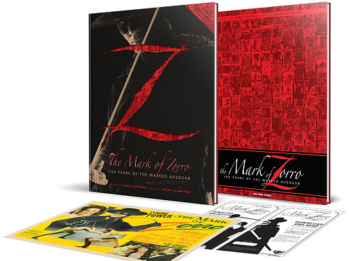 Kickstarter $99 Package Mark of Zorro: 100 Years of the Masked Avenger Art Book