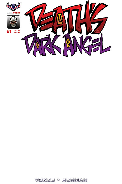 Death's Dark Angel #1 Blank Sketch Cvr