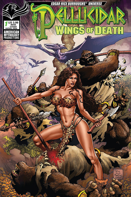 Pellucidar Wings of Death #1 Martinez Main Cover