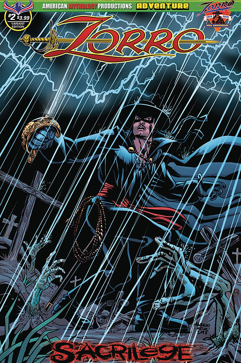 Zorro Sacrilege #2 Melo Dead Rising Cvr