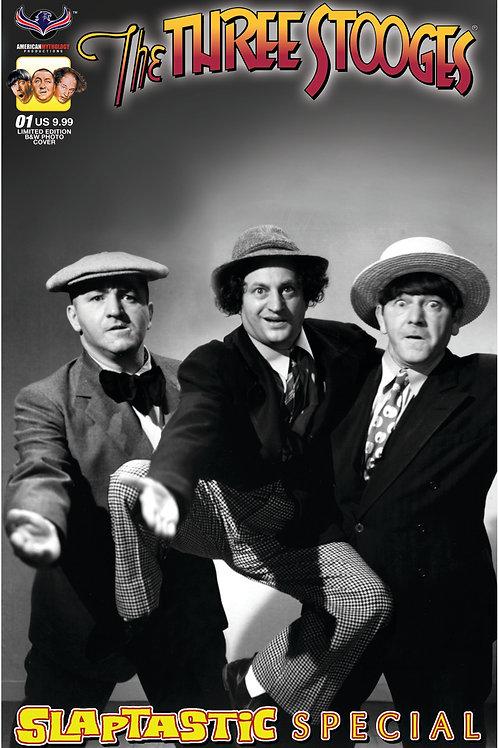 Three Stooges Slaptastic Special Ltd Ed B&W Photo Cover