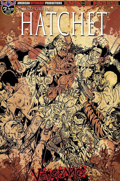 Hatchet Vengeance #3 Ltd Ed 1/300 Bloody Horror Var Calzada Cvr