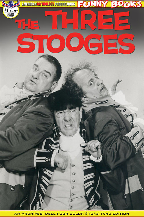 Three Stooges Four Color 1959 #1 Ltd Ed 1/350 B&W Photo Cvr