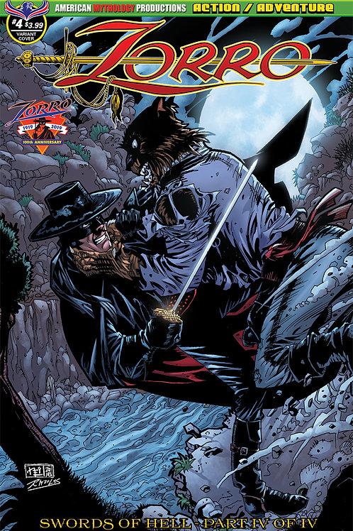Zorro Swords of Hell #4 Vokes Werewolf Attack Cvr
