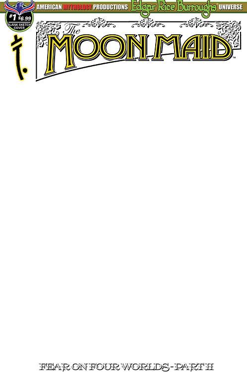 Moon Maid #1 Fear on Four Worlds Pt2 Blank Sketch Cvr