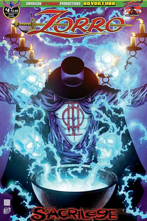 Zorro Sacrilege # 4 Wolfer Main Cvr