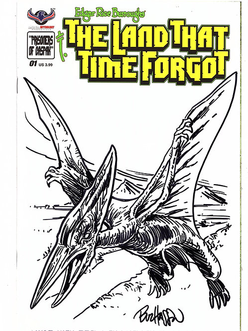 The Land That Time Forgot #1 Hand Drawn Pterodactyl Sketch Cover