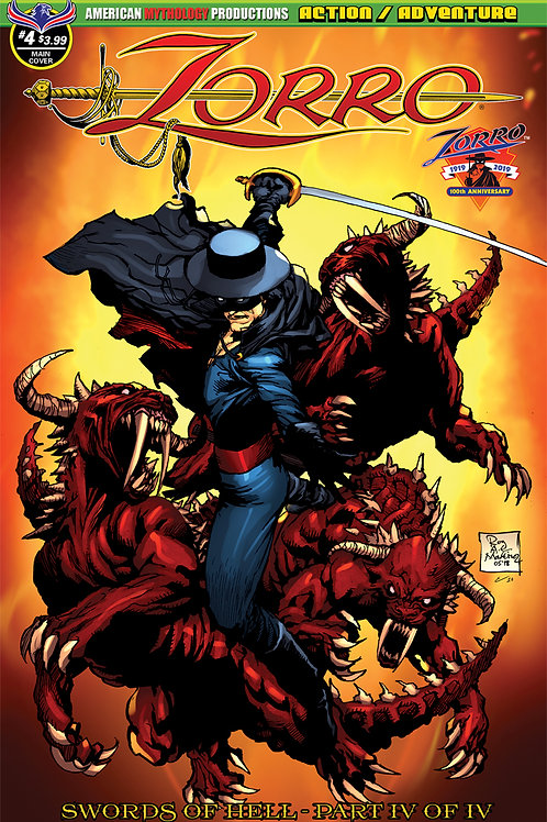 Zorro Swords of Hell #4 Martinez Main Cvr