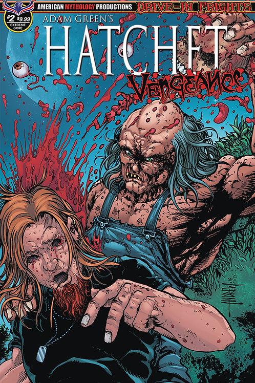 Adam Green's Hatchet Vengeance #2 1/350 Ltd Ed Mangum Extreme Gore Cvr