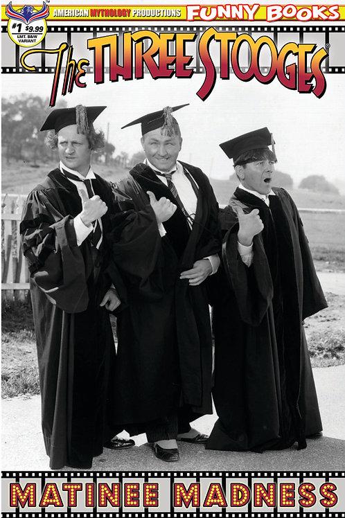 Three Stooges Matinee Madness Ltd Ed 1/350 B&W Photo Cover