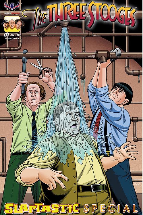 Three Stooges Slaptastic Special Fraim Bros Main Cover