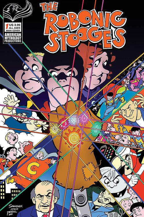The Robonic Stooges #1 Shanower Main Cvr