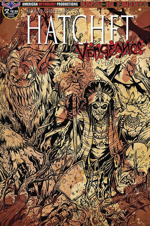 Adam Green's Hatchet Vengeance #2 1/350 Ltd Ed Bloody Horror Cvr