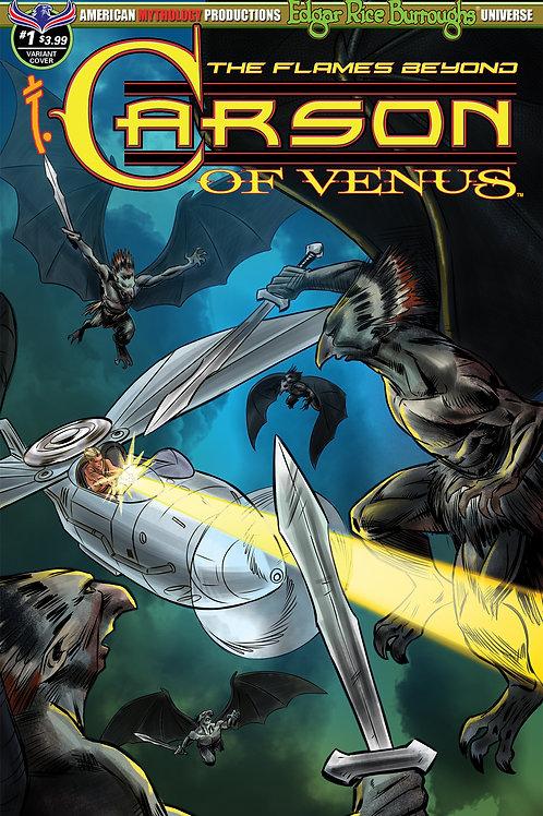 Carson of Venus #1 Flames Beyond Flight on Venus Cvr