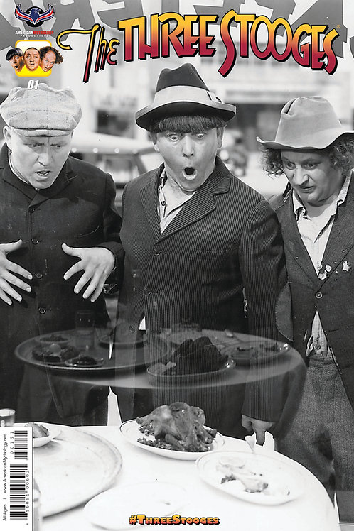Three Stooges 4 Issue Rare B&W Photo Cover Fan Package