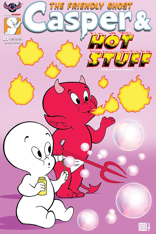 Casper And Hot Stuff #1 Bubbles Wolfer Cvr