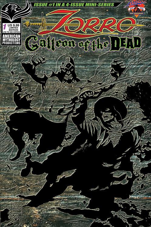 Zorro Galleon of the Dead #2 1/350 Ltd Ed Pulp Cvr