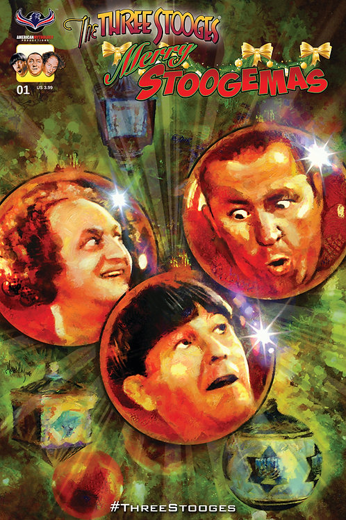 The Three Stooges Merry Stoogemas #1 Main Cover