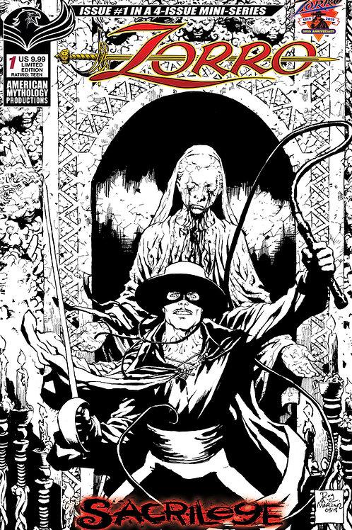 Zorro Sacrilege #1 Visions 1/375 Ltd Ed
