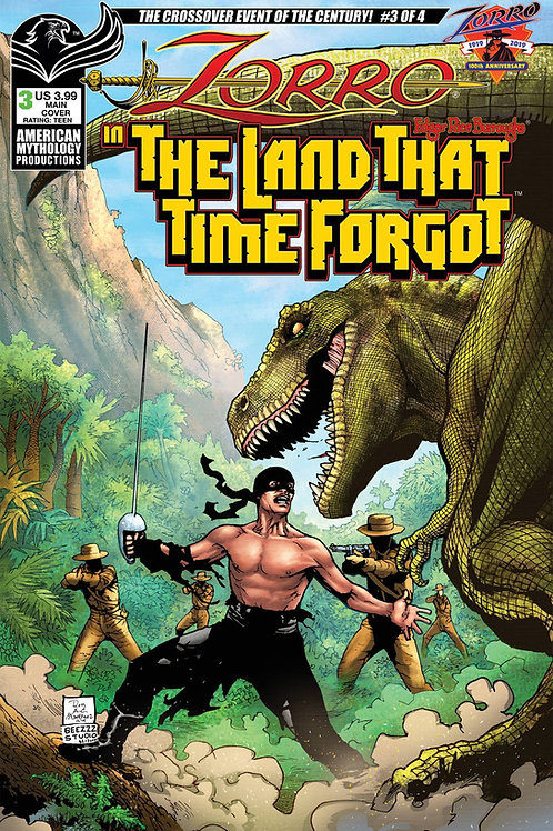 Zorro In The Land That Time Forgot #3 Digital PDF Edition