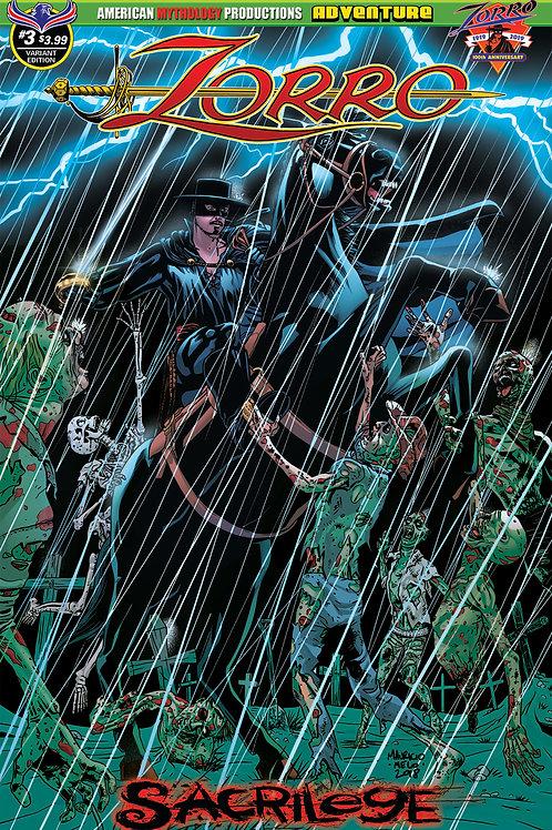 Zorro Sacrilege # 3 Melo Dead Storm Cvr