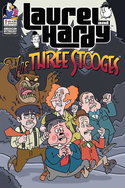 Laurel & Hardy Meet The Three Stooges #1 AM Exclusive Ltd Ed Cvr