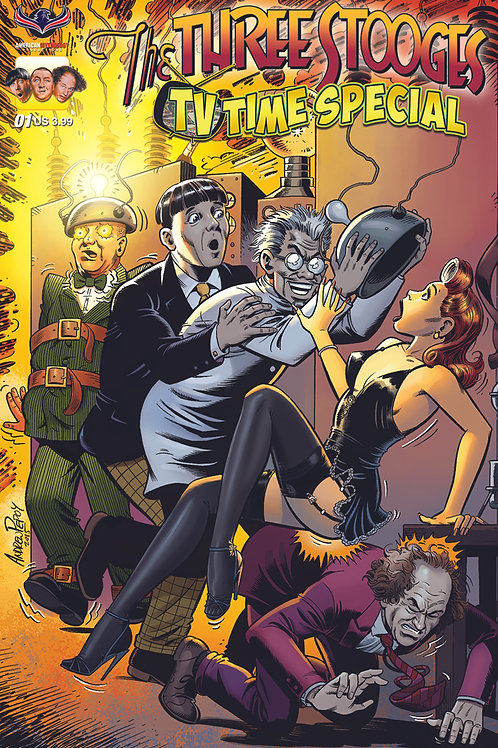 Virtual FCBD Signed by 4 Creators - Three Stooges TV Time