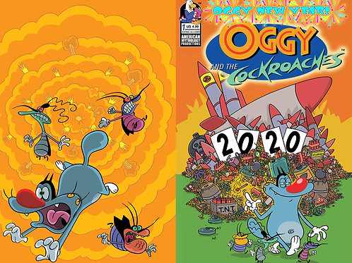 Oggy & the Cockroaches Oggy New Year #1 Wraparound Variant Cvr