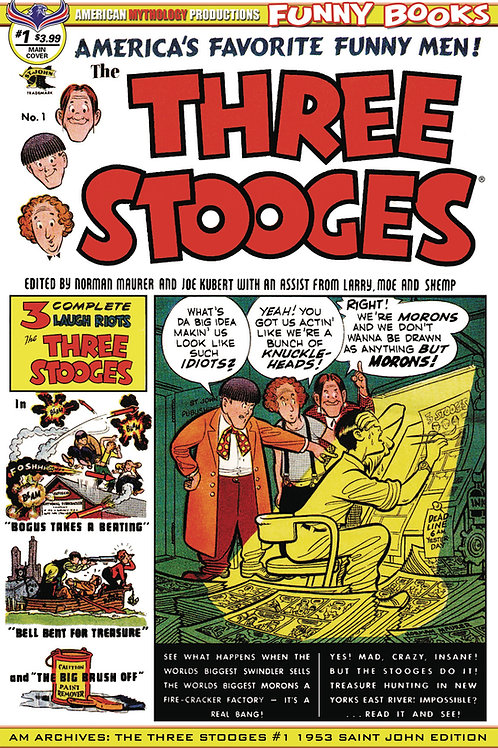 AM Archives Three Stooges #1 1953 St John Edition