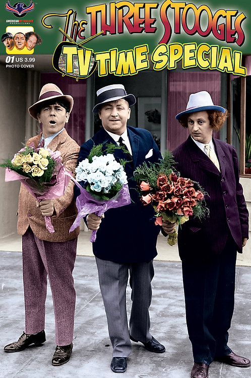 Three Stooges TV Time #1 Color Photo Cover