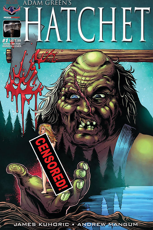 Adam Green's HATCHET #1 Rated MR for Horror Cvr