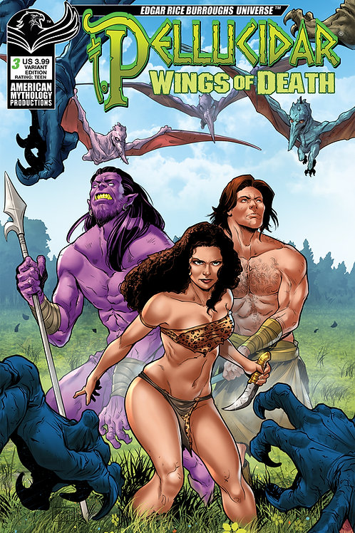 Pellucidar Wings of Death #3 Carratu Cover