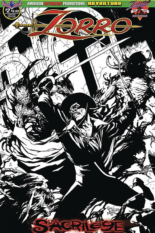 Zorro Sacrilege #2 Visions 1/375 Ltd Ed