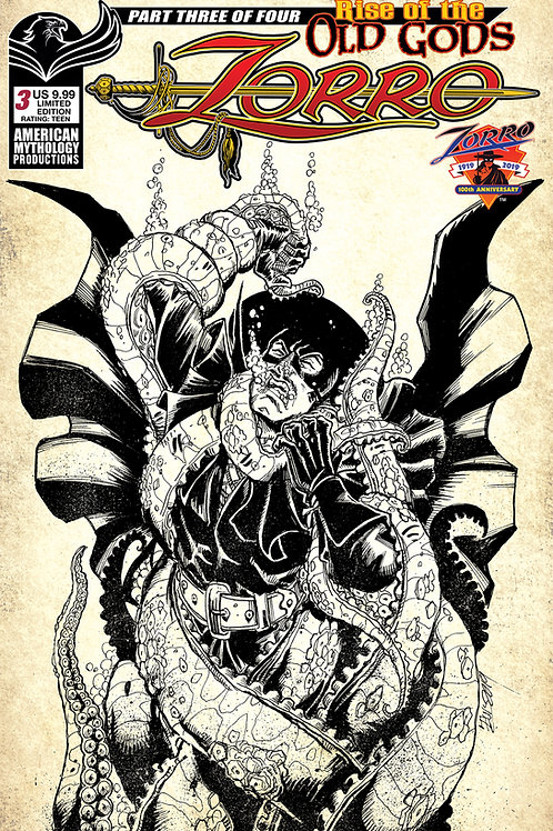 Zorro Rise of the Old Gods #3 1/350 Ltd Ed Cvr
