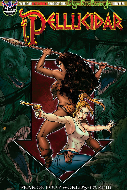 Pellucidar #1 Fear on Four Worlds Pt3 Mesarcia Depths of the Earth Cover