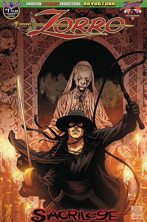 Zorro Sacrilege #1 Martinez Possession Cvr