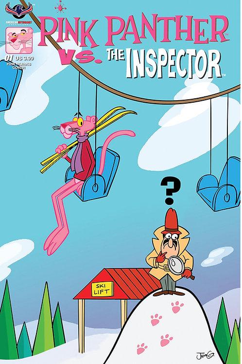 Pink Panther vs The Inspector #1 Greenawalt Hijinks Cover