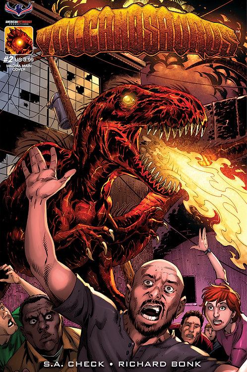 Volcanosaurus V-Rex #2 Main Bonk Cvr