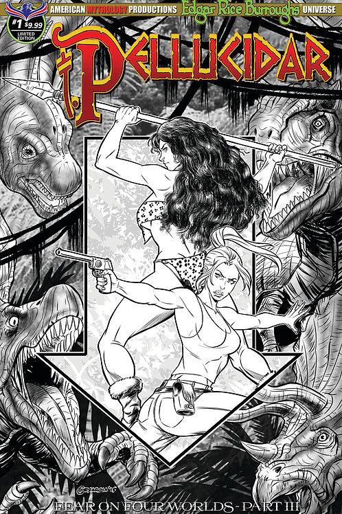 Pellucidar #1 Fear on Four Worlds Pt3 Ltd Ed 1/400 B&W Cover