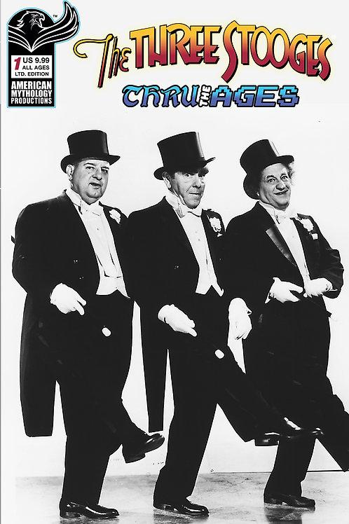 Three Stooges Thru The Ages #1 LTD 1/350 B&W Photo Cvr