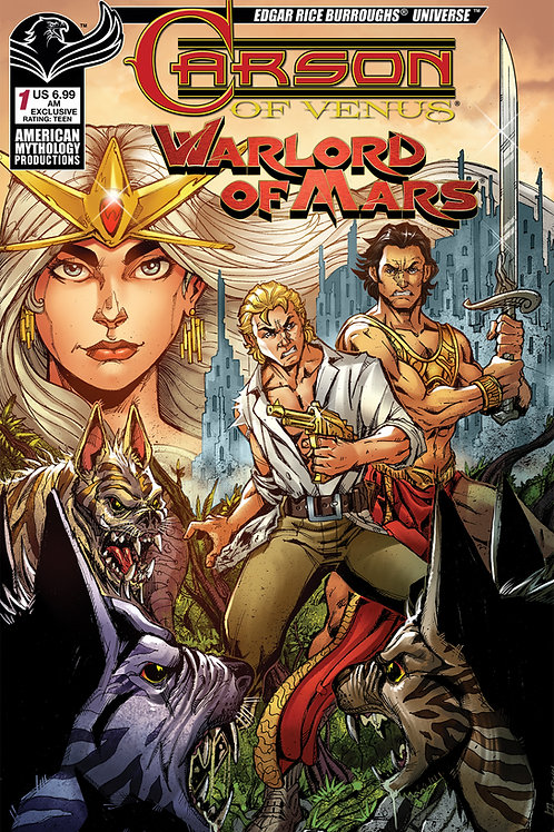 AM Exclusives! - Carson of Venus / Warlord of Mars #1 AM Shop Calazada Cvr