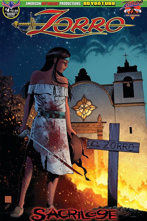Zorro Sacrilege # 4 Wolfer Lady Zorro Cvr