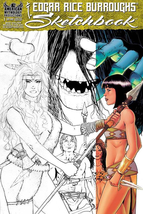 Edgar Rice Burroughs Sketchbook #1 2021 1/350 Ltd Ed Var Cvr