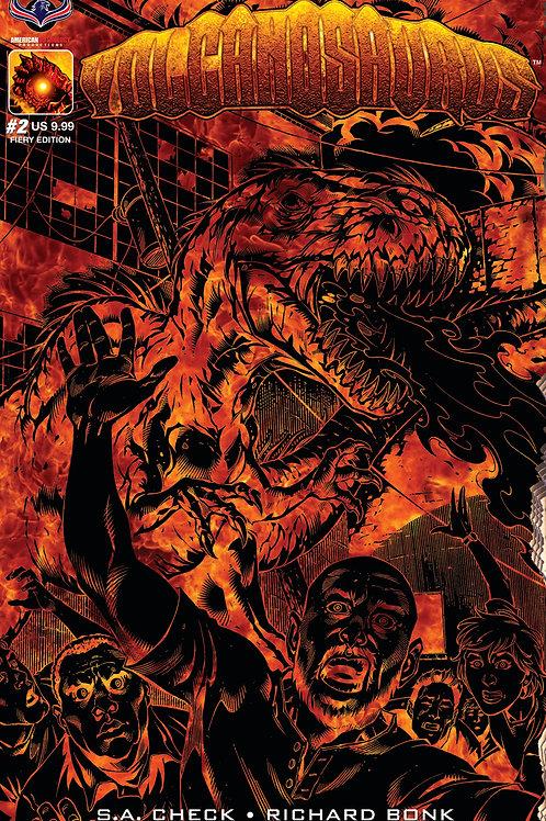 Volcanosaurus V-Rex #2 Fiery Ltd Ed Cvr