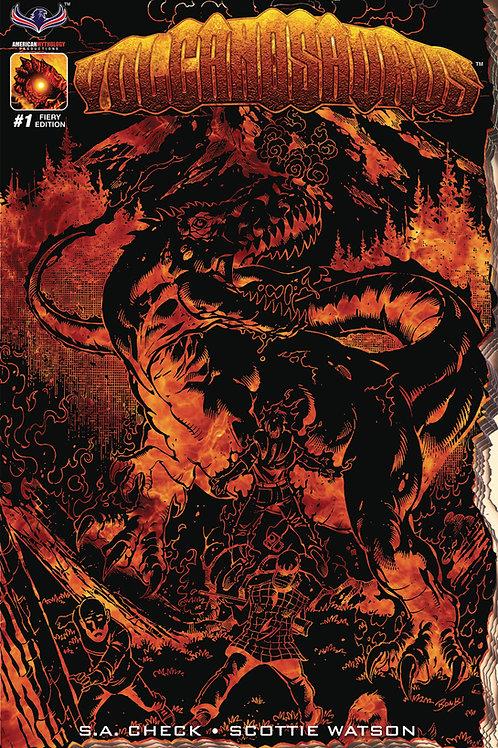 Volcanosaurus #1 Fiery Retailer Incentive Cvr