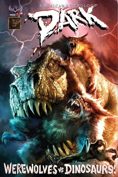 American Mythology Dark: Werewolves Vs Dinosaurs Vs Yetis #1 Scalf Cvr