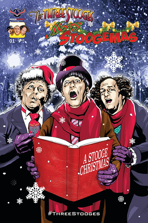 The Three Stooges Merry Stoogemas #1 LaRocque Cover