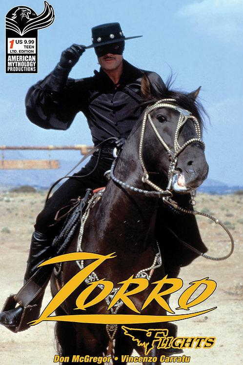 Don McGregor's Zorro Flights #1 Ltd Ed 1/350 Photo Cvr